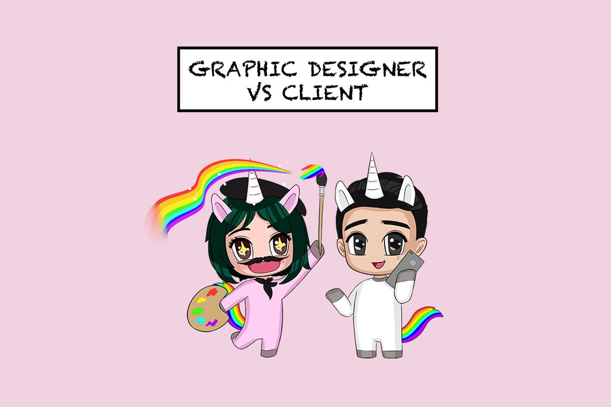 The design face-off: graphic designer vs client